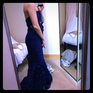 Boutique Strapless Mermaid Evening Dress